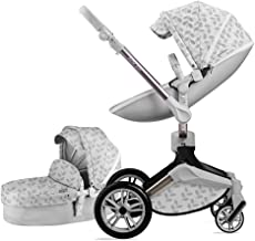 Baby Stroller 360 Rotation Function,Hot Mom Pushchair Pram,New Style 2020,Grey Leaves