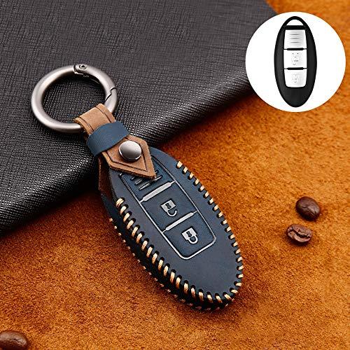 ontto Carcasa protectora de 3 botones para llave de coche Nissan Qashqai Juke F15 Pulsar March 370Z