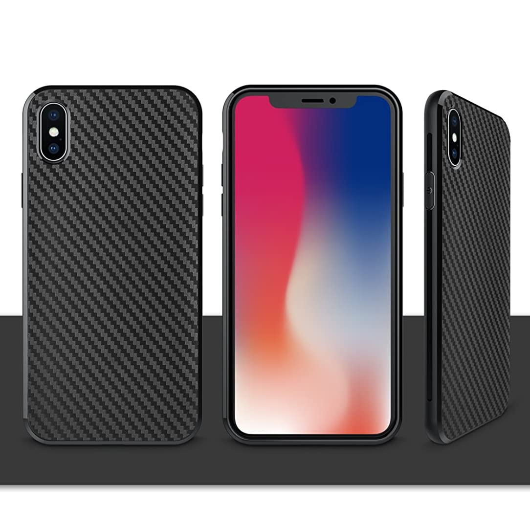 iPhone X Case, iPhone Xs Case, Xawy Slim Fit Shell Hard Soft Feeling Full Protective Anti-Scratch&Fingerprint Cover Case Compatible with iPhone X (Black)