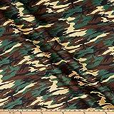Ben Textiles Inc. Super Techno Neoprene Fabric, Camouflage Print