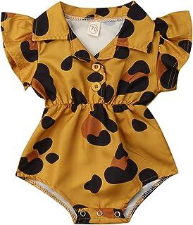 Toddler Newborn Infant Baby Girl Ruffle Blouse Romper Summer Cute Short Jumpsuit Clothes