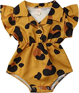 Toddler Newborn Infant Baby Girl Ruffle Blouse Romper Summer Cute Short Jumpsuit Clothes