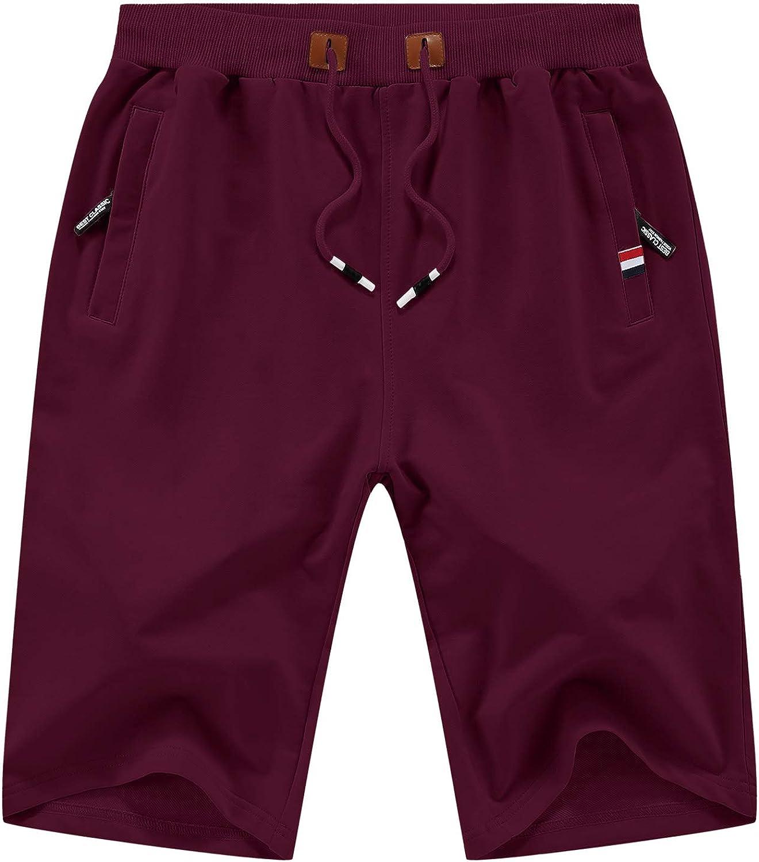 KUYIGO Men's Shorts Casual Classic Fit Drawstring Summer Beach Shorts