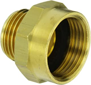 Moon 357-1010751 Brass Fire Hose Adapter, Nipple, 1