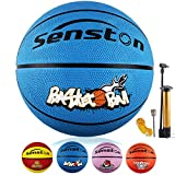 Senston 27.5' Kids Junior Basketball Balls Youth Size 5 Basketballs 27 inch Boys Game Ball Blue Color
