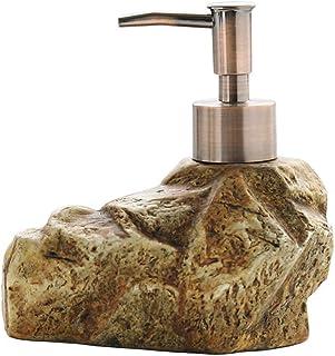 Countertop Soap Dispensers السيراميك الرجعية ستون الصابون موزع شامبو اليد المطهر دش جل غسول الصابون موزع Electric Pump