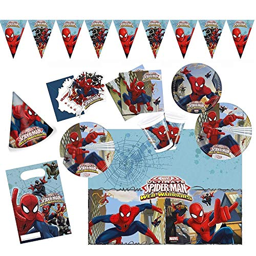 Procos 10108574B - Set para Fiesta Infantil - Ultimate Spiderman - Web Warriors, tamaño XL, 72 Piezas