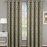 <span class='highlight'><span class='highlight'>eLuxurySupply</span></span> Blair Jacquard Grommet Top Curtain Panel Pair (Set of 2) - 108