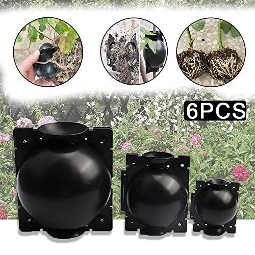 JRYⓇ 3PCS Pflanzenwurzelvorrichtung, wiederverwendbarer Hochdruck-Ausbreitungsball Pflanzenwurzelball für die Gartenveredelung Wurzelbildung Zucht