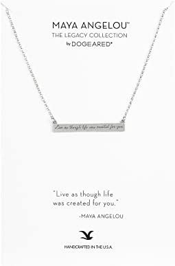 Maya Angelou: Live As Though Life: ID Bar Necklace