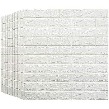 Fondo de Pantalla de la Pared del Fondo de la Sala de Estar del Dormitorio de los Paneles de Pared 3D del ladrillo Blanco para la decoración de la Pared y del palillo (Tamaño : 20 Pack)