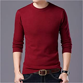 Men Sweater Warm Mens Knitted Wool Sweaters Solid Color Casual O Neck Pull Cotton Pullover Winter Autumn