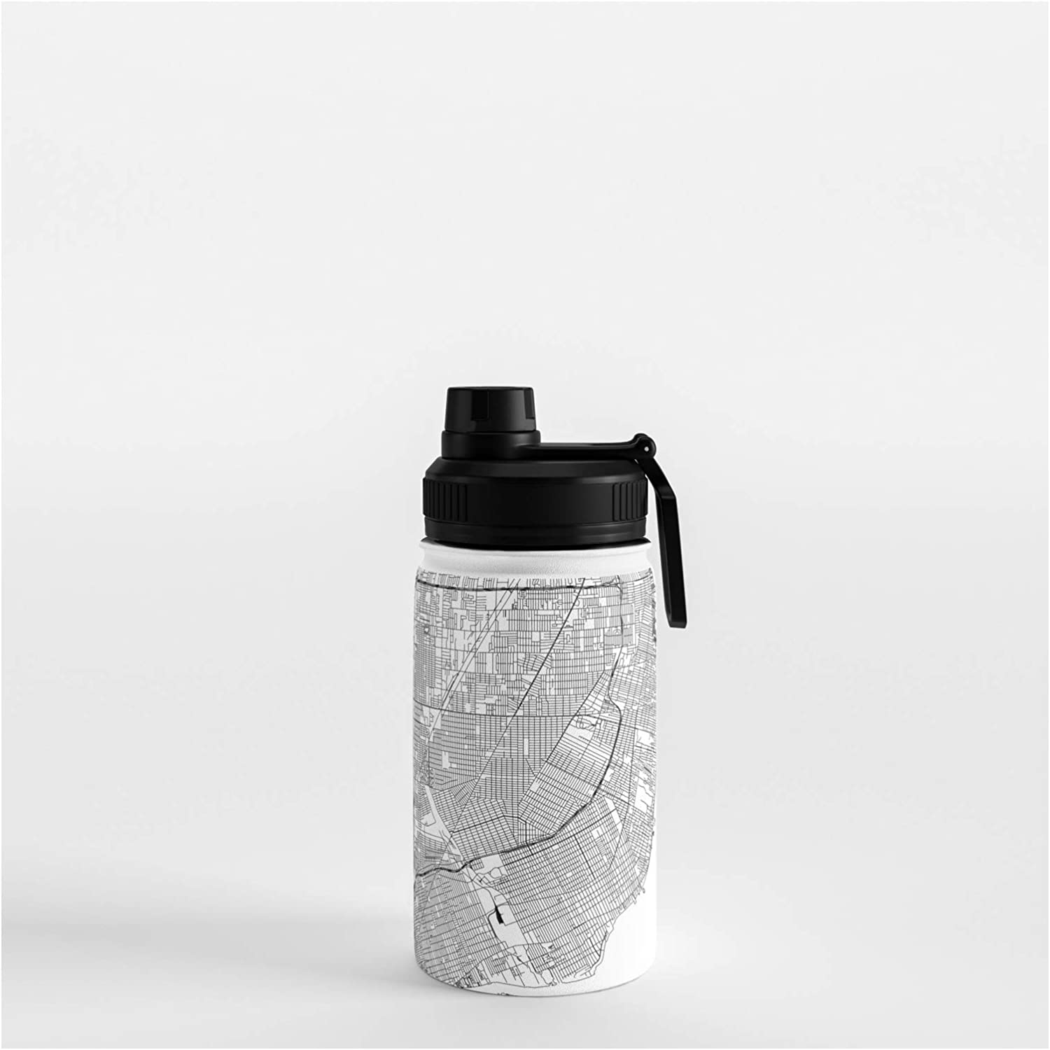 Society6 Detroit White Map by Multiplicity on Max 82% OFF Bottle - 12 Ranking TOP9 Water