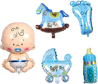 5Pcs/Set Children Baby Shower Boy Kids Party Decoration Giant Foil Balloon Baby Birthday Party Decorations Supplies