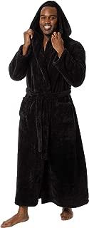 Mens Luxury 400gsm Hooded Long Robe - Full Length Plush Big & Tall Bathrobe