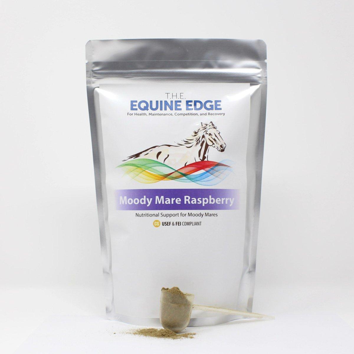 T.H.E. Equine Edge Moody Mare Raspberry - Pure Organic Raspberry Leaf for Calming, 30 Servings