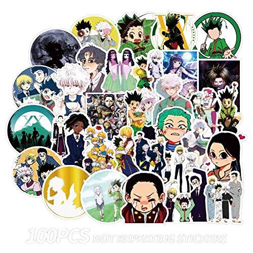 SOSPIRO 50Pcs/100Pcs Hunter x Hunter Anime Sticker Skateboard Waterproof Trolley Case Laptop Skateboard Stickers Toys Gifts for Kids(50 pcs - 1)
