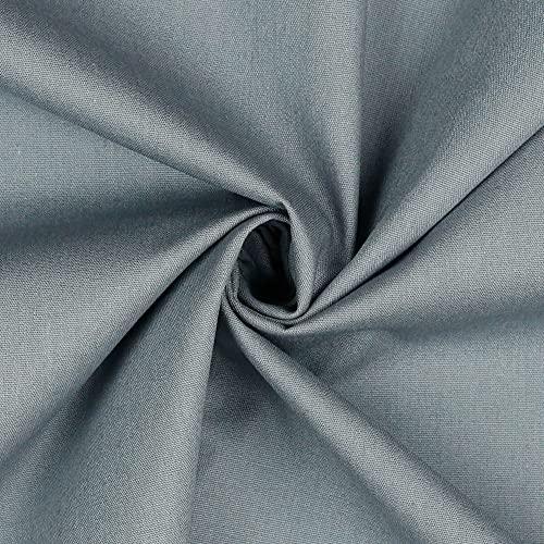 babrause® Baumwollstoff uni grau Webware Meterware Popeline OEKOTEX 150cm breit - Ab 0,5 Meter