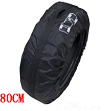 Ken-Tool Black Car 13-16'',17-20'' Spare Tire Tyre Wheel Cover Bag with Carrying Handles Tote Car Wheel Protector Storage (1PCS of Pack) (80cm)