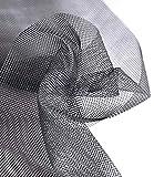 Mitef Malla de malla de gran ancho para ventana, de fibra de vidrio, invisible, multiusos, mosquitera, gris, 3 x 9 m