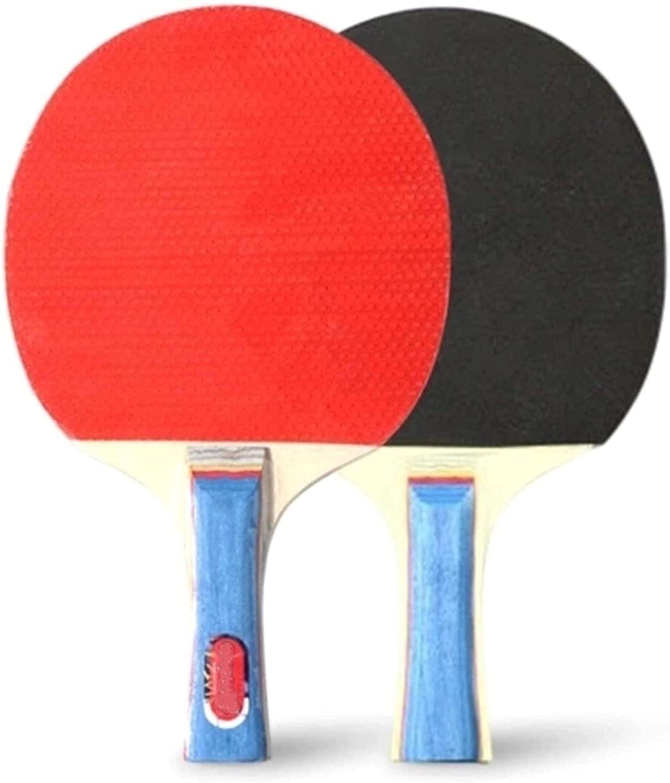 ZFQZKK Ping Pong Paddle Paddle Raquetas de tenis de mesa 2 murciélagos de pong mango largo pong juego de raquetas de entrenamiento accesorios de entrenamiento kit de paquete de raqueta batido agitar a