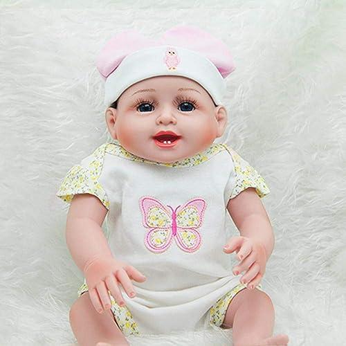 Hongge Reborn Baby Doll,Baby-Silikon-Wiedergeburt-Puppe Schaut Echtes Kinderpuppen-Spielzeug Feiertags-Geschenk 52cm