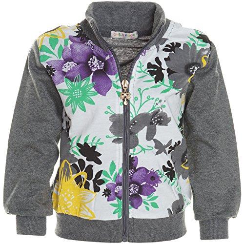 BEZLIT BEZLIT Baby Mädchen Kinder Hoodie Pullover Jacke Stehkragen Sweatshirt Sweatjacke 21241 Anthrazit Größe 86
