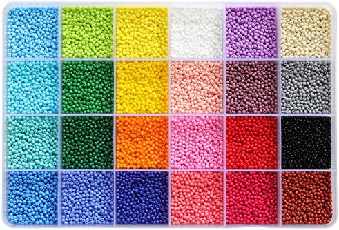 BALABEAD Size Almost Uniform Glass Seed Beads About 24000pcs Opaque Matte Colors Seed Beads product image