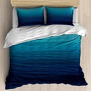 SINOVAL Deep Blue Sea Twin/Twin XL Extra Long Brushed Microfiber 1 Duvet Cover 2 Pillow Shams Zipper Closure
