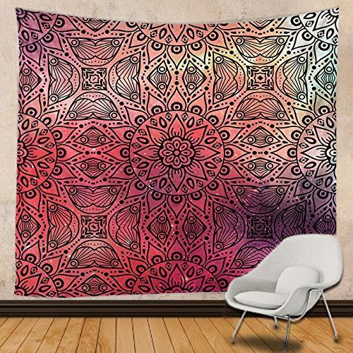 JXWR Tapiz de Mandala Indio decoración Familiar Tapiz de impresión Hippie decoración Bohemia sofá Manta Estera de Yoga colchón 150x130 cm