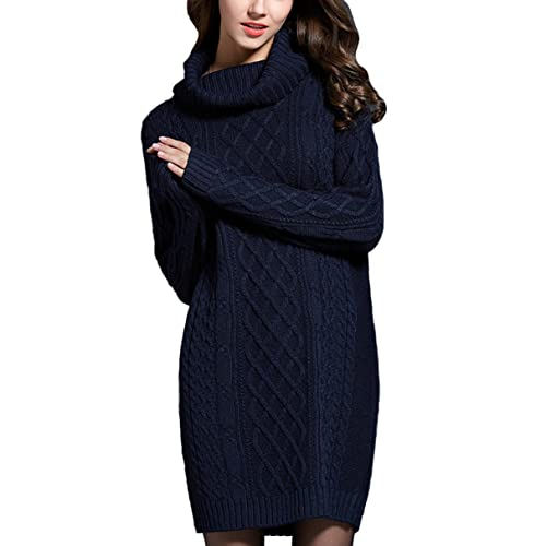 e02dee5985 YOURNELO Women s Elegant Turtleneck Diamond Pattern Dress Pullover Sweater