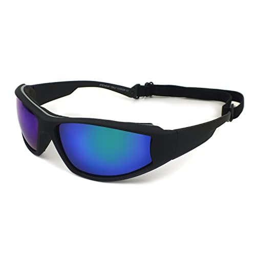 62cae96f0f3 Ski Snowboarding Goggles Motorcycle Riding Googles Sports Sunglasses Wind    Dust protection (Black Blue)