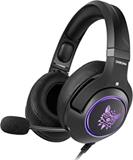 ONIKUMA Gaming Headset for Xbox One,PS4, PC, 3.5mm Stereo Wired Over Ear Gaming Headphone with Mic, Noise Cancelling & Vol...