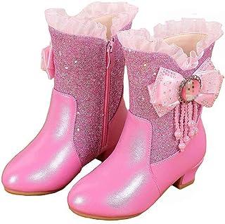 LOBTY chaussures filles enfants cadeaux princesse bottes strass bottes d'hiver chaud doublé chaussures de neige enfant en ...