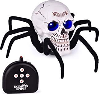 FUN LITTLE TOYS Remote Control Spider Toy, 11.8 Inches Skull Spider with Light and Sound, RC Spider Toy for Party Decorations, Party Favors, Party Supplies
