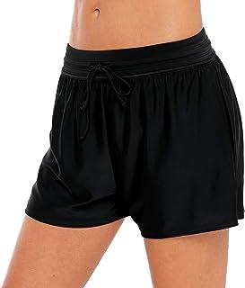 a59613f62c05f4 BeautyIn Damen Badeshorts Badehose Sports Schwimmshort UV Schutz  Schwimmhose Wassersport Boardshorts