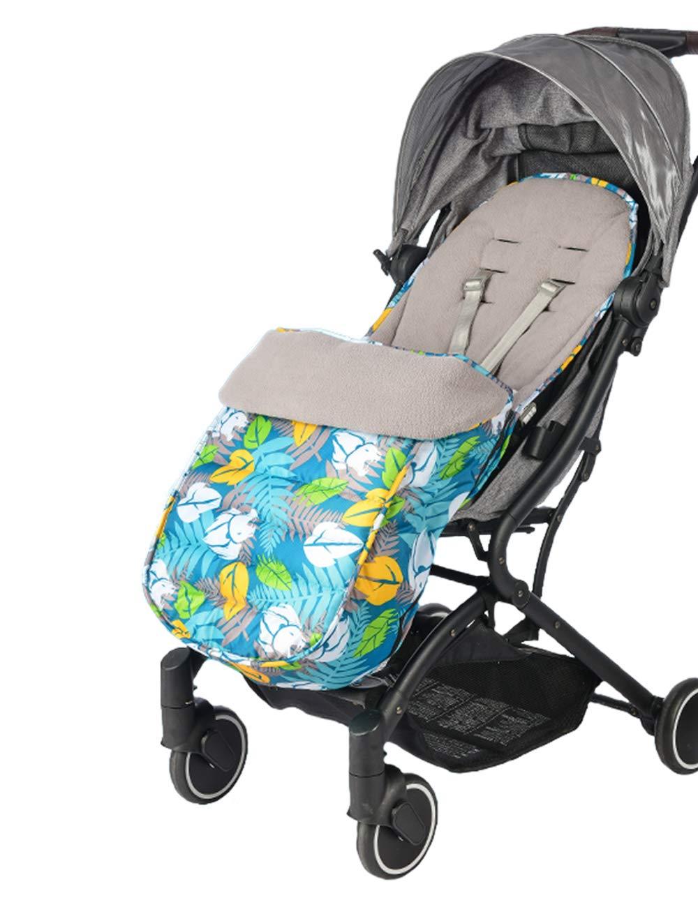 JFBABY Outdoor Stroller Bunting Bag, Universal 3 in 1 Winter Outdoor Tour Toddler Universal Stroller Sleeping Bag, Cold-Proof Detachable&Temperature Regulation Footmuff for Stroller (Type B)