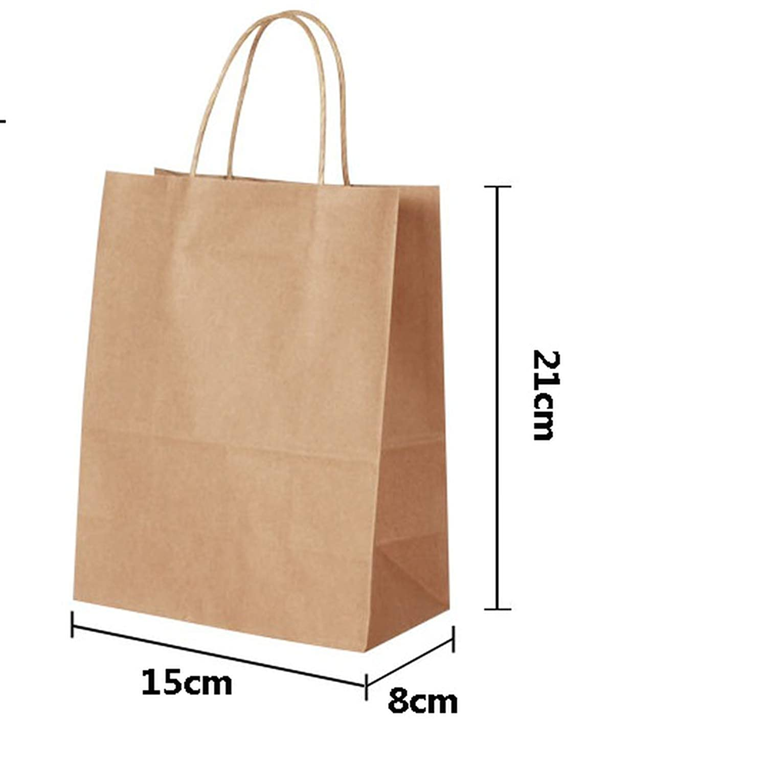 30PCS/lot 4 Size Kraft Paper Bag with Handles for Wedding Party