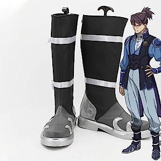Gowell Anime Kabaneri de la forteresse de fer Laisu Cosplay Chaussures Unisexe PU mi-mollet Botte 55