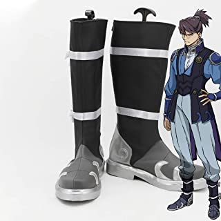 Gowell Anime Kabaneri of the Iron Fortress Laisu Cosplay Chaussures Unisexe PU Bottines mi-mollet