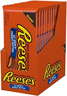 REESE's Giant Filled Peanut Butter, (6.8-Ounce Bar, Pack of 12)