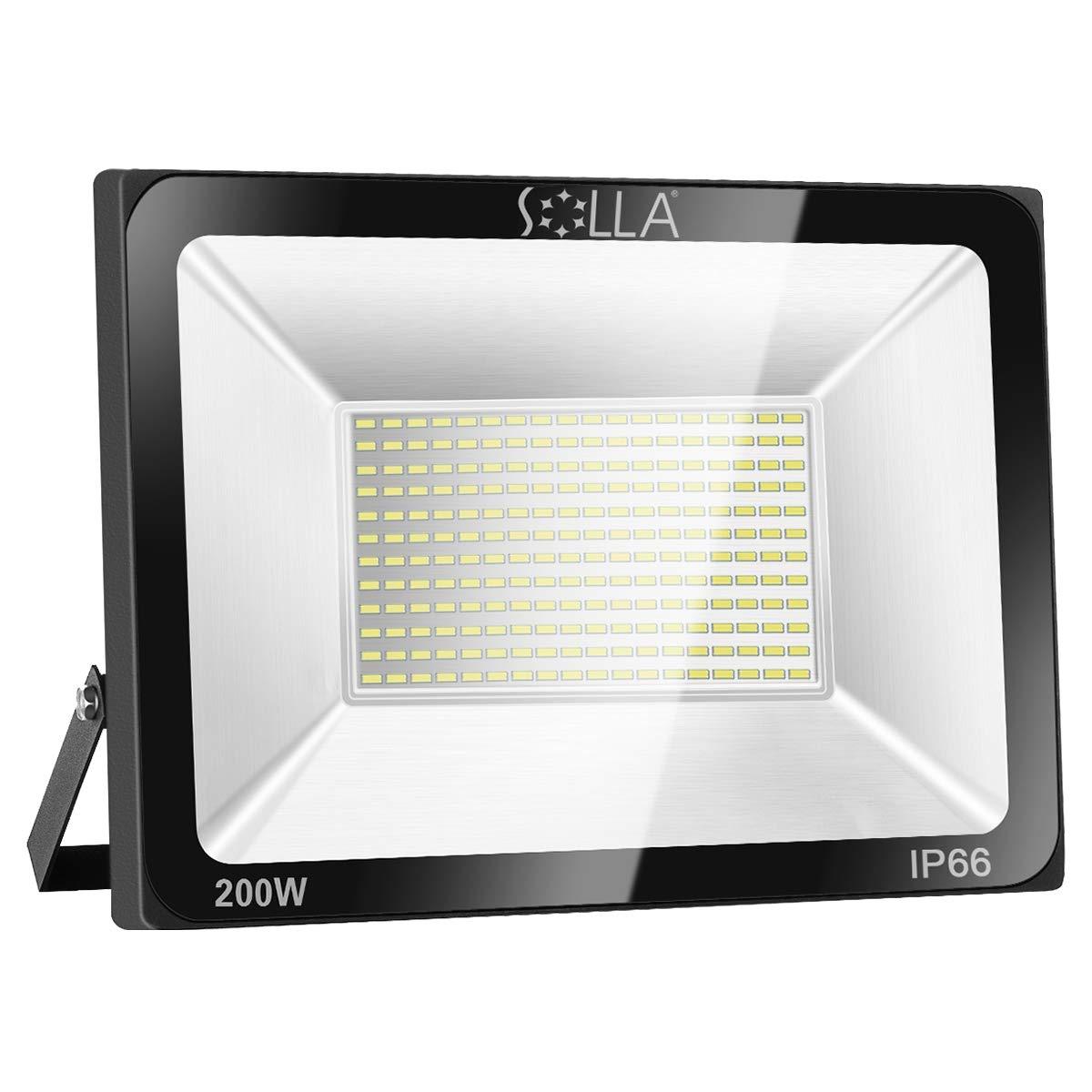 Foco LED 200W IP66 Luz de Seguridad Exterior Impermeable, 16000LM, Blanco Cálido 3000K, Foco Exterior de Pared para Patio, Garaje, Almacén, Parking, Jardín, Carreteras, Calles, Plazas, etc.: Amazon.es: Iluminación
