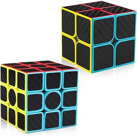 D-FantiX Carbon Fiber 3x3 Speed Cube 3x3x3 Magic Cube Puzzle Brain Teaser Toys