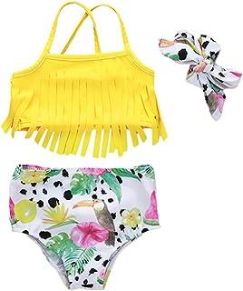 Balze Carnevale Mare Spiaggia per 7-14 Anni Push up Top Reggiseno Slip Vita Alta Perizoma Bohemian Floreale Stampa a Fiori Costumi da Bango Bambina Innerternet Bikini Due Pezzi da Ragazza