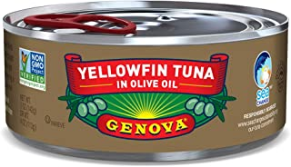 Genova Yellowfin Tuna in Pure Olive Oil, 5 Ounce (Pack of 24)