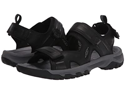 KEEN Targhee III Open Toe Sandal (Black/Grey) Men