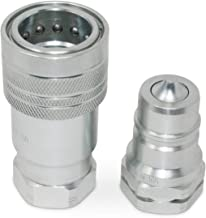 "1"" Agricultural Hydraulic Quick Connect Pioneer Style Coupler Set, ISO 5675, 1"" NPT Thread"