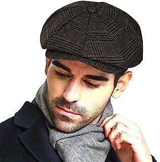 Fashion Men's Classic Newsboy Gatsby Hat Blend Wool Vintage Flat Ivy Cabbie Cap Boyfriend Gifts(Medium/Large/X-Large)