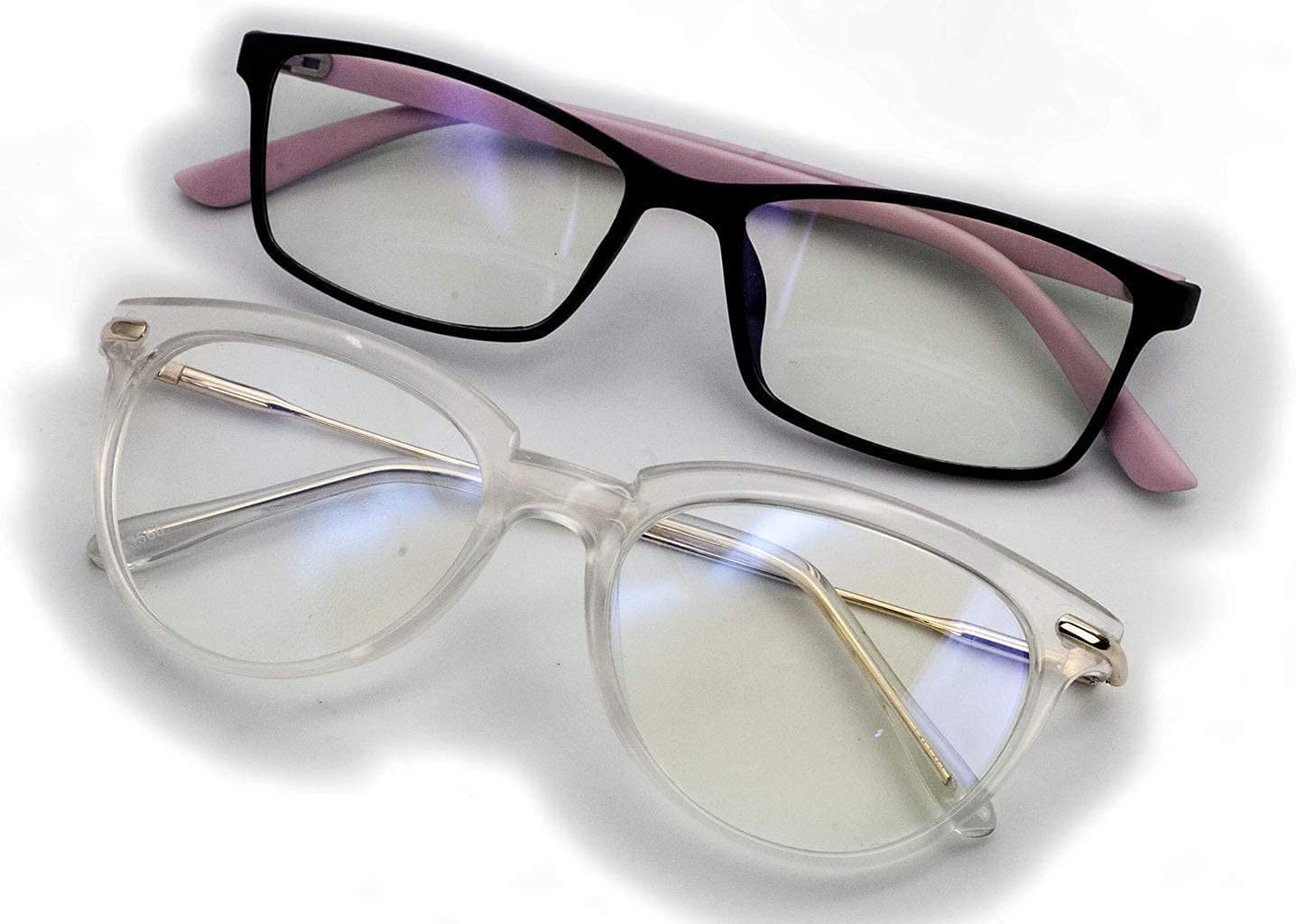 Clear Blue Light Glasses Womens Bundle Ey Pack free shipping 2 Computer Reduce Max 88% OFF