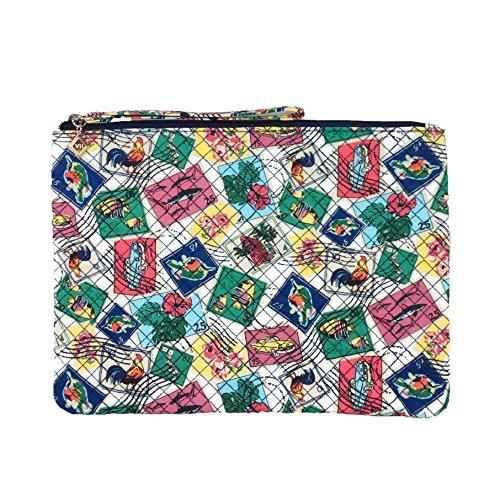 Vera Bradley Swimwear Wristlet Ditty Bag, Cuban Stamps